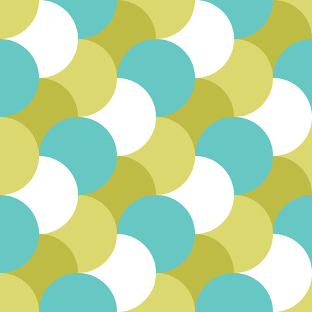 Retro seamless pattern with circles. Colorful vector background. Illustration