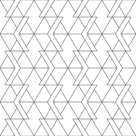 Art deco monochrome seamless arabic black and white wallpaper vector illustration.