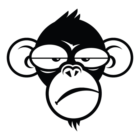 Monkey sleepyface, logo design template. vector illustration.