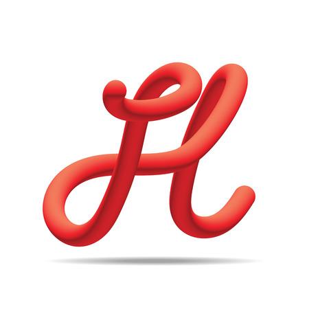 H lettre rouge mélange couleur modèle de conception élément. Illustration vectorielle