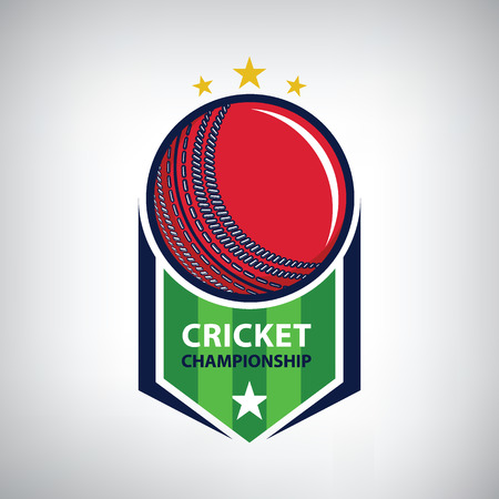 Cricket championship logo. modern sport emblem. vector illustration