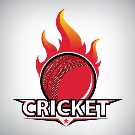 クリケットのロゴ。現代のスポーツエンブレム。ベクトル図  イラスト・ベクター素材