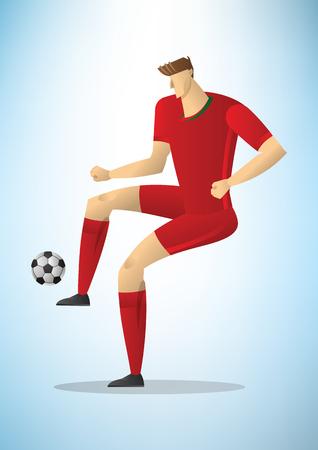 Illustration of football player image design Ilustracja
