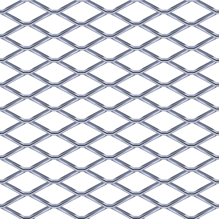 Steel Grating seamless structure. Chainlink isolated on white background.  Vector illustration. EPS 10.