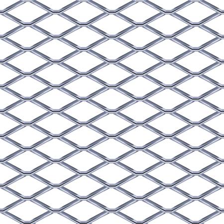 Stalen rooster naadloze structuur. Chainlink op witte achtergrond wordt geïsoleerd die. Vector illustratie EPS 10.