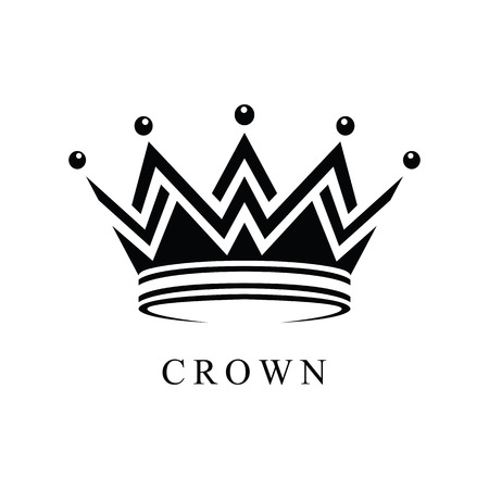 Crown icon abstract design vector template. Geometric black symbol concept icon.