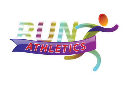 Run athletics color sport icon design Template. Sport Vector Illustration.