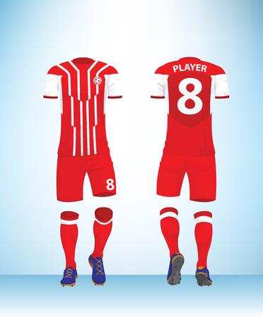 Soccer jersey or football t-shirt mock up.