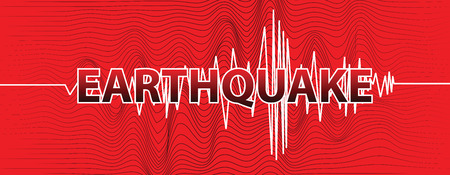 Cracked wave in the wall banner. Vector illustration