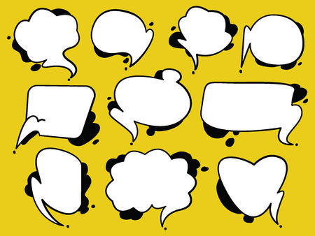A collection of comic style speech bubbles. vector illustration.