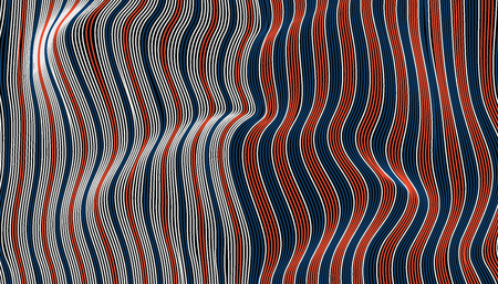 Abstract red blue and white wave fabric texture. line wavy switch colors style vector illustration.