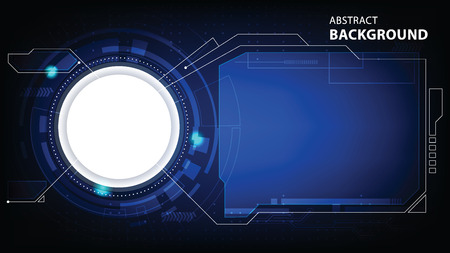 abstract vector technology. tech data connect background illustration Illustration