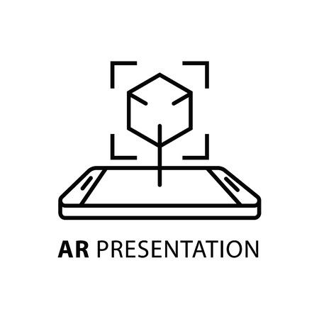AR presentation concept icon. Simple line vector illustration. AR presentation concept symbol flat design Illustration