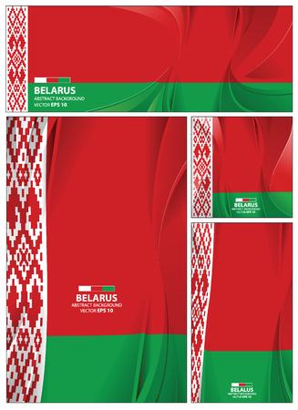 Belarus flag abstract colors background. Collection banner design. brochure vector illustration.