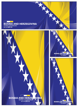 Bosnia and herzegovina flag abstract colors background. Collection banner design. brochure vector illustration.
