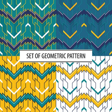 Vector modern set of geometric tiles pattern. color  shape. Abstract color seamless luxury background.