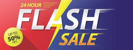Flash Sale banner template design. vector illustration