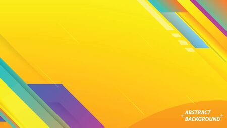Abstract Colorful Background with Stripes. Minimalistic Banner. vector illustration.