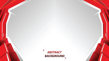 Abstract red and white motion technology design. Vector corporate background. vector illustration.