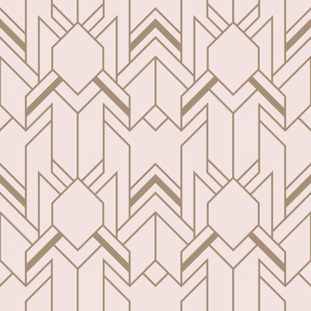 Vector modern geometric tiles pattern. Abstract art deco seamless luxury background. Illustration
