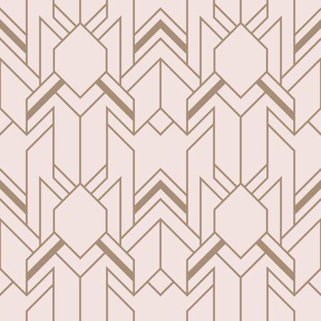 Vector modern geometric tiles pattern. Abstract art deco seamless luxury background. 矢量图像