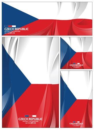 Czech Republic flag abstract colors background. Collection banner design. brochure vector illustration.