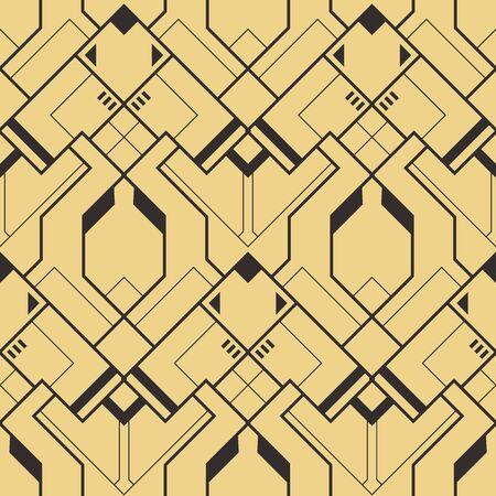 Vector modern geometric tiles pattern. Abstract art deco seamless luxury background. Ilustracja