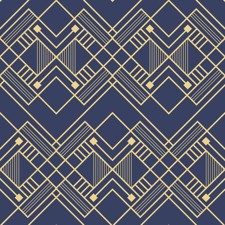 Vector modern geometric tiles pattern. Abstract art deco seamless luxury background. Ilustracja