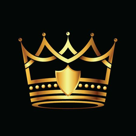 Modern Crown Logo Royal King Queen abstract Logo. Vector illustration. Ilustracja