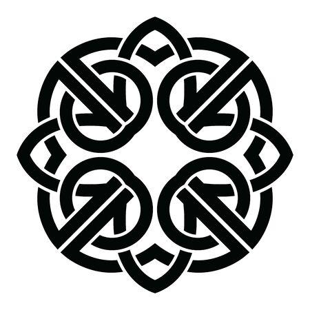 Celtic knot ornament. Vintage decorative elements. Oriental pattern, vector illustration.