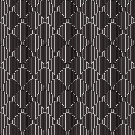 Vector modern geometric tiles pattern. white lined shape. Abstract art deco seamless luxury background.