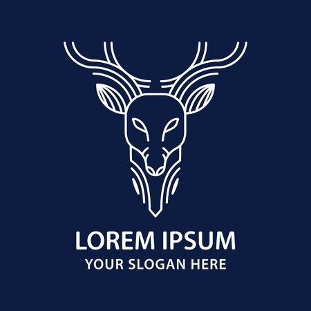 deer logo design inspiration. vector illustration.
