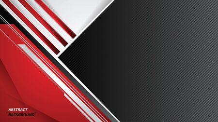 Diseño deportivo blanco y negro rojo abstracto. Fondo corporativo de vector. ilustración vectorial.