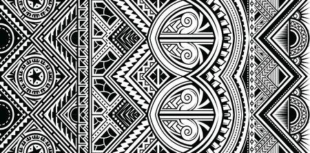 Polynesian tattoo style ornament shaped as sleeve pattern or armband. vector illustration. Vektorgrafik