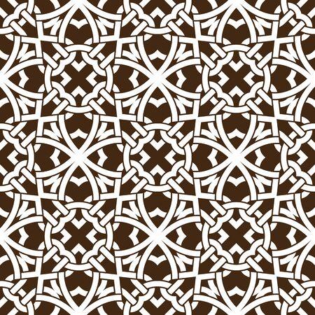 Celtic knot seamless pattern. Abstract ornament. art black line Vector illustration.