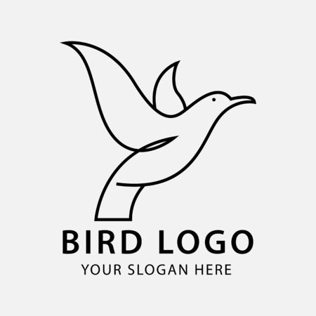 bird logo design inspiration simple, luxury, creative line art or monoline nature.