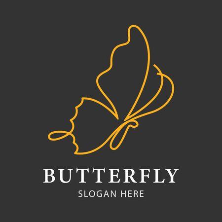 Butterfly logo design inspiration simple, luxury, creative line art or monoline nature.