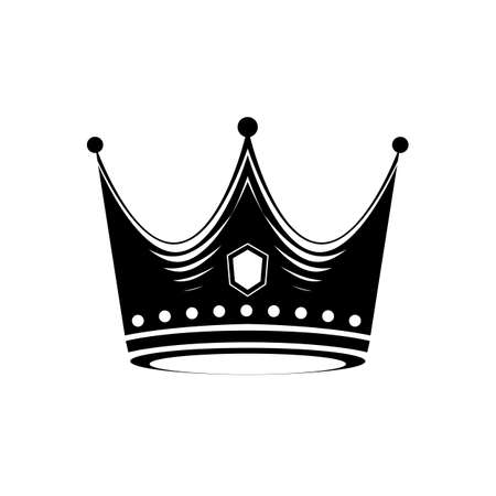 Creative Crown Concept Logo Vector Design Template Ilustracja