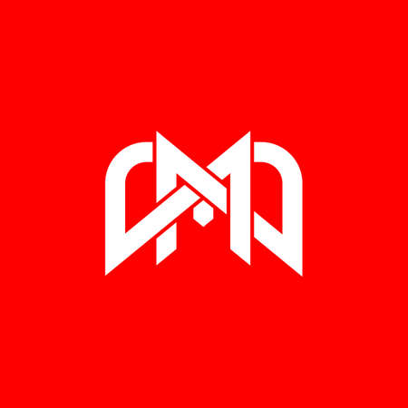 Abstract universal premium Letter M Wing logo design. Luxury linear creative monogram vector. Ilustracja