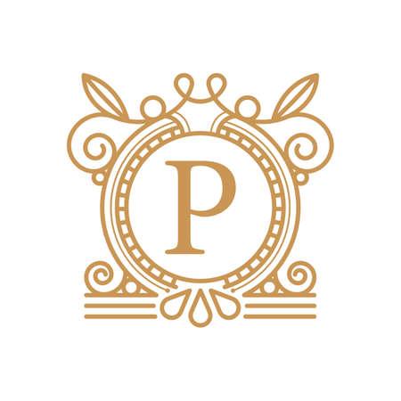 Premium Letter P Logo and Monogram Design, vector template.
