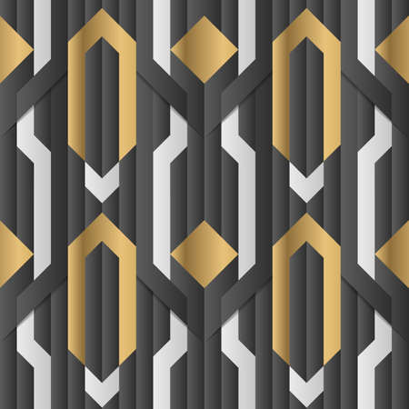 Vector modern geometric tiles pattern. Abstract art deco luxury background.
