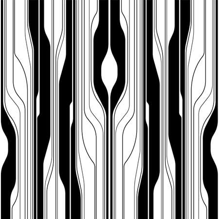 Abstract background. Linear black striped texture. Seamless pattern vector.