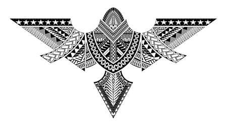 polynesian tattoo pattern maori, samoa ornament design, ethic tribal template vector.