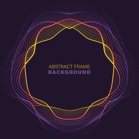 Abstract color dynamic wavy lines background. vector illustration.