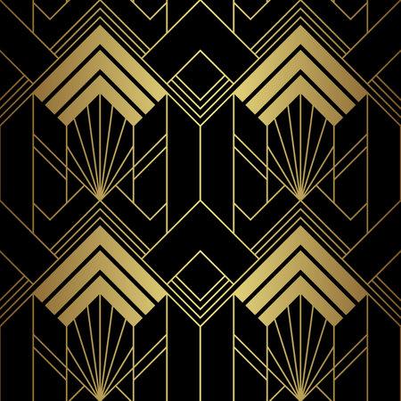 Vector modern geometric tiles pattern. Abstract art deco seamless luxury background. 向量圖像