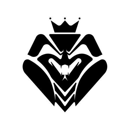 King cobra snake Mascot logo template. Abstract king viper head black & white vector head snake, mascot, tattoo design illustration.