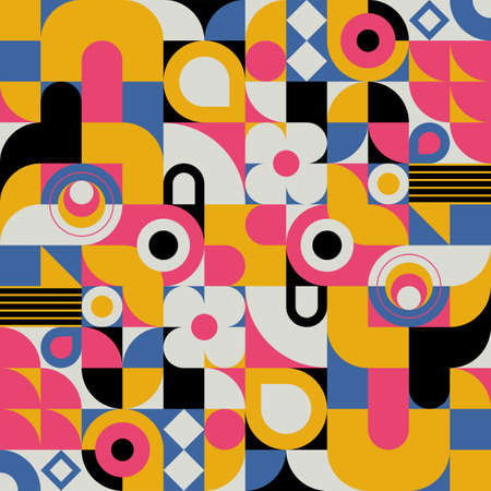 Vector modern geometric tiles pattern. Abstract art deco seamless luxury background. Stock Illustratie