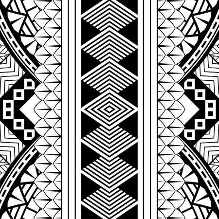Polynesian pattern tribal design. art native ornament vector