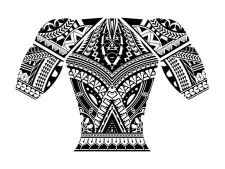 polynesian tattoo wrist sleeve tribal pattern forearm. ethnic template ornaments vector.