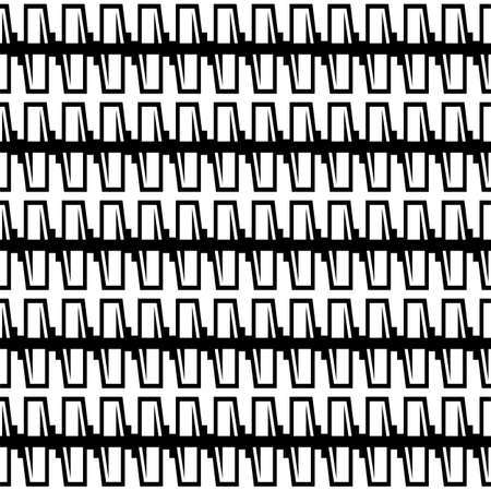 Abstract geometric pattern with stripes. seamless vector background. Black and white texture.